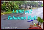 Affordable PROPERTY 1,800 m2 LAND FOR SALE IN Tabanan Kota TJTB321
