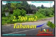 Beautiful 2,700 m2 LAND SALE IN TABANAN BALI TJTB299