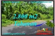 FOR SALE Affordable PROPERTY 2,800 m2 LAND IN TABANAN BALI TJTB300