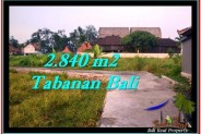 Exotic 2,840 m2 LAND SALE IN TABANAN BALI TJTB247