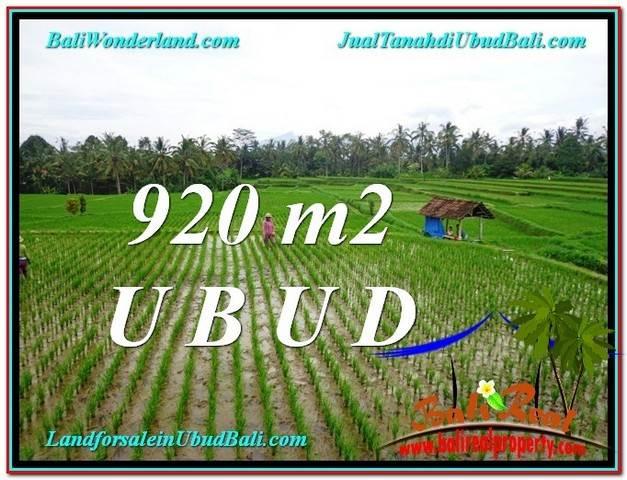 Exotic PROPERTY 920 m2 LAND IN Ubud Payangan FOR SALE TJUB575